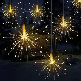 String Lights Decor Australia - 180 Led Fireworks light Lamp for wedding party decoration 8 Mode LED String Lights Remote Control DIY Decor Party Light for hotel Bar garden