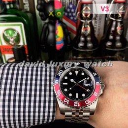 Designer Relógio de luxo Master II Men Mecânica superfície do relógio 40 milímetros Sapphire espelho convexo Data 316L Correia de aço inoxidável Red Azul venda por atacado