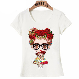 ac13350d3 Charismatic Frida Kahlo Cute Cartoon Art T Shirt Summer Cute Women T Shirt  New Design Tops Girl T -Shirt Ladies Casual Tees