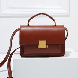 High End Hand Bags Australia - 2019 Genuine Leather Bag for Women Tofu Hand Rubbing New High-end Leather Women Bag Lizard Pattern Bag