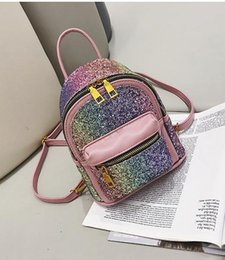 $enCountryForm.capitalKeyWord Australia - 2019 female new tide hand shoulder bag Japanese and Korean wild hot hip hop backpack fashion student bag backpack Pink