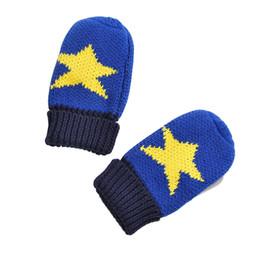 2996db0ff9306 Boys Kids Warm Winter Knit Gloves Cartoon Star Pattern Knit Gloves - Size M  Cute Mittens for Children Christmas Gift