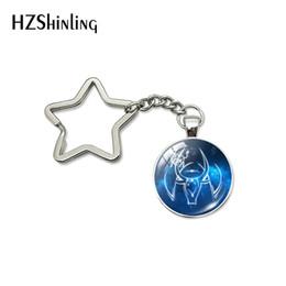 $enCountryForm.capitalKeyWord Australia - Fashion Cute Cartoon Virgo Horoscope Women Kids Zodiac Sign Star Key Fob Glass Cabochon Pendant Jewelry Keyring Accessories