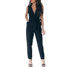 $enCountryForm.capitalKeyWord UK - Overalls For Women office daily High Street Jumpsuit Pocket Elegant Lace V Neck Sleeveless Rompers Playsuit Salopette Femme#ss