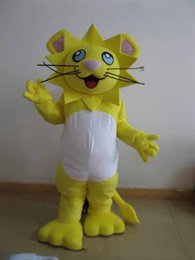 $enCountryForm.capitalKeyWord Australia - Professional custom yellow lion Mascot Costume Character animal Mascot Clothes Christmas Halloween Party Fancy Dress