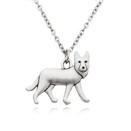 $enCountryForm.capitalKeyWord Australia - German Shepherd Dog Charms Pendant Statement Necklace Choker For Women Men Pet Jewelry Pet Lover Party Gift Long Chain Stainless Steel