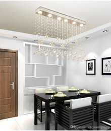 $enCountryForm.capitalKeyWord Australia - Contemporary Crystal Rectangle Chandelier Cognac Butterfly Crystal Ceiling Light Fixture Flush Mount For Dining Room Luminaire Suspension