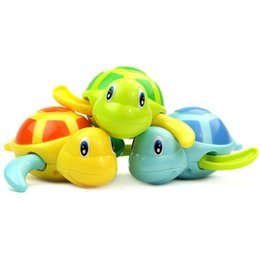 clockwork animals Canada - Cute Cartoon Animal Tortoise Classic Baby Water Toy Infant Swim Turtle Wound-up Chain Clockwork Kids Beach Bath Puzzle Toys