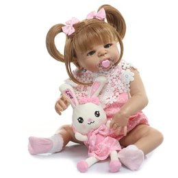 "$enCountryForm.capitalKeyWord Australia - Bebe reborn 22"" 56cm Latest New Silicone Boneca Adorable menina Baby Reborn Doll Lovely full vinyl surprise christmas gift kids"
