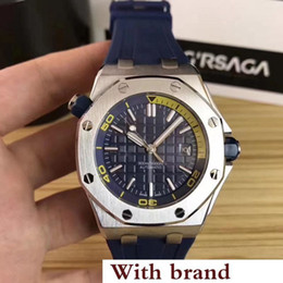 Special Man Watch Australia - New Watch Special glide smooth Men Black Dial Rubber Band Gold Stainless Steel Automatic Mechanical 15710ST Men Mens Watch Watches