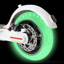 $enCountryForm.capitalKeyWord Australia - Luminous Absorber for Xiaomi Mijia M365 Scooter Skateboard Damping Rubber Tires Wheels Tyre Fluorescent Solid Hole Tires