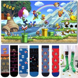 socks games NZ - New Cotton men Women's Crew Socks Funny Harajuku Cute Novelty Cartoon sloth Anime Game socks Christmas Skateboard Sock Gift