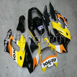 black repsol fairings Australia - Gifts+Screws repsol yellow black motorcycle article for HONDA VTR1000F 1997-2005 97 98 99 00 01 02 03 04 05 ABS Plastic Fairing