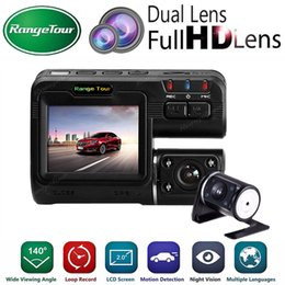 car box recorder NZ - Dual Lens Car DVR Vehicle Camera Recorder i1000s Dash Cam Black Box Full HD 1080P 140 Degree with Rear View DashCam Camcorder