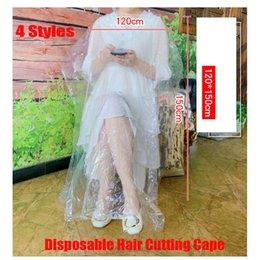 Einweghaarschneidkaps Salon Kleid Schneiden Salon Stylist Nylon Barber Tuch 78x110cm 90x120cm 110x130cm 120x150cm 4 Stil auf Lager im Angebot