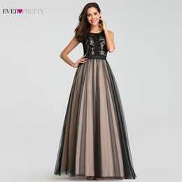 $enCountryForm.capitalKeyWord Australia - Evening Dresses Long Ever Pretty EZ07788 Sexy A-line Tulle Sleeveless Lace Wedding Guest Gowns Cheap Blush Long Formal Gowns