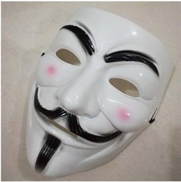 film guy fawkes mask Australia - New Christmas Halloween Volto Mask Party Cosplay Halloween Party Guy Fawkes V FOR Vendetta Anonymous Adult Party Mask Decorations
