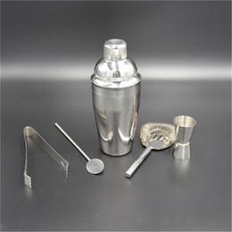 $enCountryForm.capitalKeyWord Australia - 5 Pcs Practical Stainless Steel Cocktail Shaker Mixer Drink Bartender Kit Bars Set Tools Eco-Friendly Bar Sets