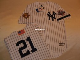 cheap shirts for sale NZ - Cheap baseball NY #21 PAUL O'NEILL 2001 Top shirt Jersey WHITE New Mens stitched jerseys Big And Tall SIZE XS-6XL For sale