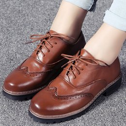 $enCountryForm.capitalKeyWord Australia - 1Beauty England Wind Genuine Leather Women's Shoes Level With Single Shoe Woman Cloth Locke Woman Small Leather Shoes Will Code Single Shoe