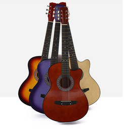 Maple wood acoustic guitars online shopping - Factory direct inch acoustic guitar student adult beginner guitar wooden corner steel string guitar gift musical instrument