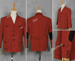 doctor cosplay Australia - Doctor Who Who Is Doctor Cosplay The 4th Dr Tom Baker Costume Jacket Coat Outwea