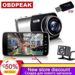 Hd dasH cameras online shopping - 4 Inch Car DVR P car rearview mirror Degree Dash Cam IPS Screen Full HD Video Dash Camera reverse image dual lens cam