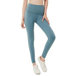 lady fitness wear Australia - LU-36 Solid Color Women yoga pants High Waist Sports Gym Wear Leggings Elastic Fitness Lady Overall Full Tights Workout
