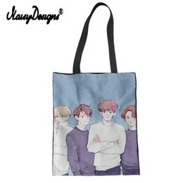 1c37ae9663dc Custom EXO BTS Print Foldable Shopping Bag Women Canvas Tote Bag Girl  Ladies Shoulder Cotton Shopper Bolsa De Tela my Melody