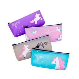 $enCountryForm.capitalKeyWord NZ - Creative Dream Girl Heart Unicorn Stationery Bag Pencil Case Cartoon Jelly PVC Pencil Case Multifunctional Cosmetic Bag