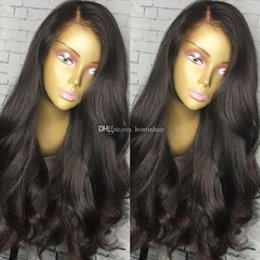malaysian wavy human hair NZ - Human Hair Lace Front Wig Wavy 360 Lace Wig 180% Density Malaysian Virgin Hair Pre-plucked Hairline Soft Full Lace Wig With Baby Hair