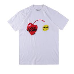 Smile Tee Australia - ASAP Rocky Kanye Tshirts Men CPFM Love Bomb Smile Designer Summer 19ss New Tees Short Sleeved Tops