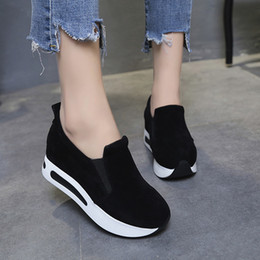 Shoes Women Platform Sport NZ - Designer Dress Shoes Women Spring Travel Casual Fashion Slip-on Sport Running Walking Platform Height Increasing Loafers Zapatillas Mujer
