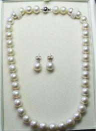 $enCountryForm.capitalKeyWord Australia - jewelry set classic set of 10-11mm round white south sea pearl necklace & earrings
