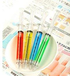 1000 pcs Criativo Canetas Esferográficas agulha de seringa Canetas Esferográficas bola agulha caneta truque de brinquedos infantis para estudantes Tinta Cor preto ou azul
