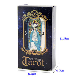 Wholesale Flash Waiter Tarot Card Divination Exquisite Pattern Card Game