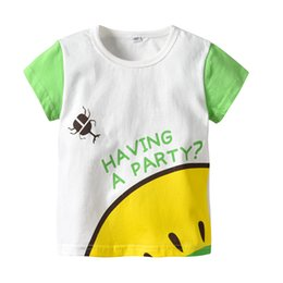 $enCountryForm.capitalKeyWord Australia - Latest Infant Baby Children's wear Summer Boy Green beetle shirt Design Cartoon T- shirt Light Blue color block shirts
