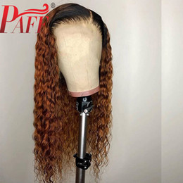 $enCountryForm.capitalKeyWord Australia - PAFF Deep Curly 13X4 Lace Front Human Hair Wigs Ombre Color Deep Part Two Tone 1B 30 Wig Brazilian Pre Plucked Remy