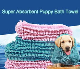 Products Fast Australia - Fibre Fast Drying Water Pet Bath Towel Super Absorbent Puppy Mat Dogs Blanket Soft Cat Bathing Practical Mould Proof Easy Clean DH0320