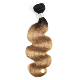 $enCountryForm.capitalKeyWord UK - Brazilian Body Wave Hair Weave Bundles 1B 27 Ombre Honey Blonde Two Tone 1 Bundles 10-24 inch Peruvian Malaysian Human Hair Extensions