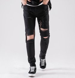 $enCountryForm.capitalKeyWord NZ - men Designer jeans Brand high quality Outdoor sport men clothing couple Boutique Hole cowboy pants Street hip hop Large size stone 19ss 585