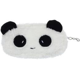 Cute Cosmetic Bags Cases Australia - Cute Plush Panda Pen Pencil Case Cosmetic Makeup Bag Coin Purse Wallet Bolsa Infantil Menina Kids YLL