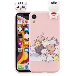 Cheap Iphone Cases Wholesale NZ - Cheap Soft Silicone Case for iPhone xr cases 3D Cat Rabbit phone cases for iPhone XR