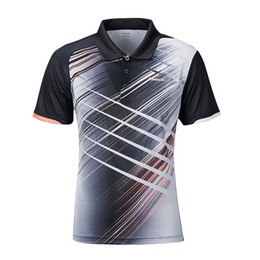 $enCountryForm.capitalKeyWord Australia - 2019 Men Badminton Shirt Breathable Tennis Black T-Shirt Short Sleeve Quick Dry Sport Clothing For Male