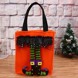 funny gifts christmas Canada - Funny Halloween Gift Bags Cute Witch Doll Candy Bag Creative Trick Or Treat Bag Goodie Storage Holder For Kids Christmas Decorations