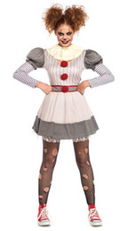 $enCountryForm.capitalKeyWord UK - Ladies Sadistic Clown Costume Evil Killer Circus Halloween Fancy Dress Outfit M,XL 4284