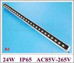 Ip65 Blue Wall Washer Canada - high power 24W LED wall washer light lamp staining light bar flood light AC85-265V RGB CW WW R Y B G 24LED 24W