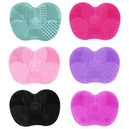 Wholesale 15.7*11.7*1.5cm Silicone Makeup brush cleaner Pad Make Up Washing Brush Gel Cleaning Mat Hand Tool Foundation Makeup Brush Scrubber Board