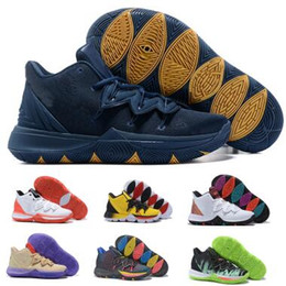 7e696dce1d2 Kyrie 5 Basketball Shoes Sneakers Mens Man 2019 Yellow Magic Ikhet Taco  Neon Blends PE 3 Mamba Bred Concepts Classic Baskets Ball Shoes
