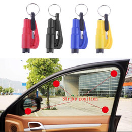Wholesale 1PCS Mini Safety Hammer Car Life saving Escape Hammer Window Keychain Car Window Broken Emergency Glass Breaker